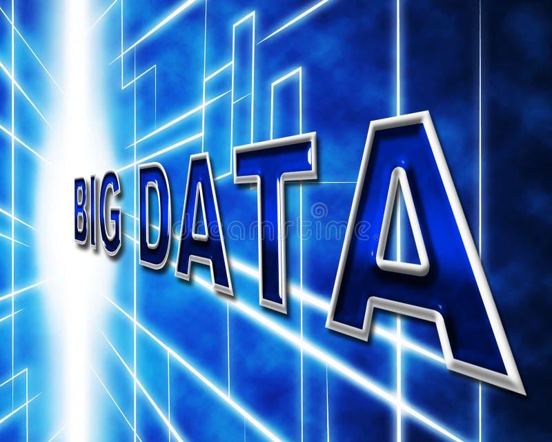 Los datos grandes indican conocimiento de la información y la información ilustración del vector