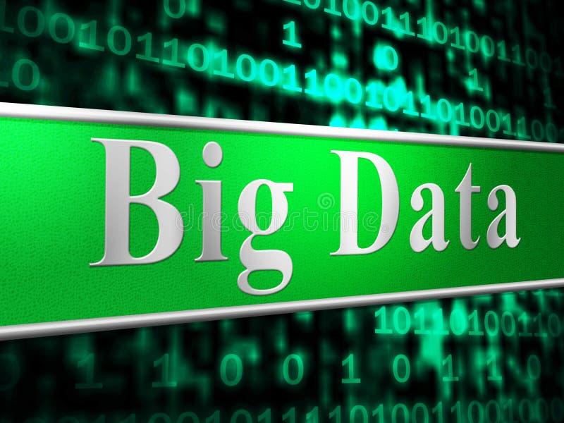 Los datos grandes indican el World Wide Web y la información ilustración del vector