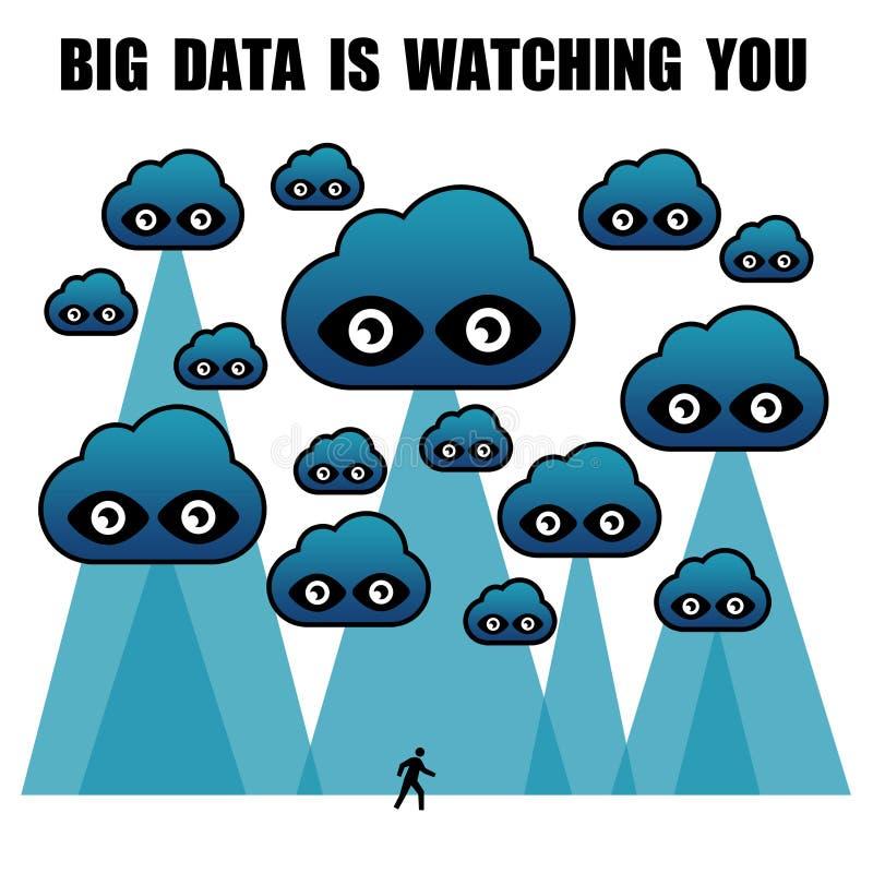 Los datos grandes le están mirando libre illustration