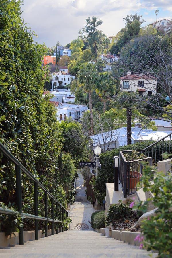 Los de Alten plaatsen Verborgen Treden dichtbij de Hoge Torenlift in Hollywood, CA, de V.S. royalty-vrije stock afbeelding