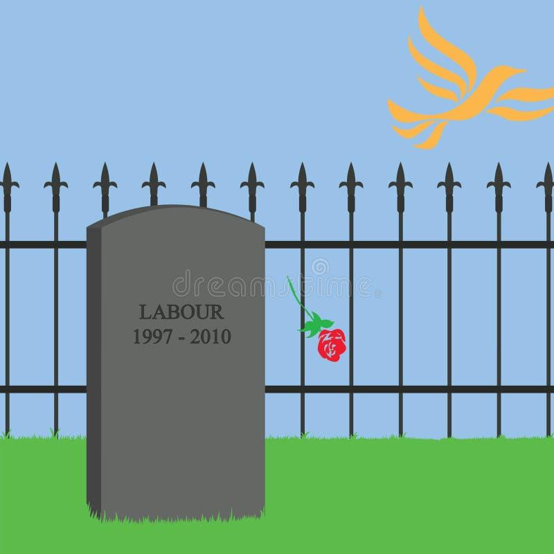 Los demócratas liberales Reino Unido del gobierno de coalición eran la muerte del vector de trabajo Illustration-01 fotografía de archivo