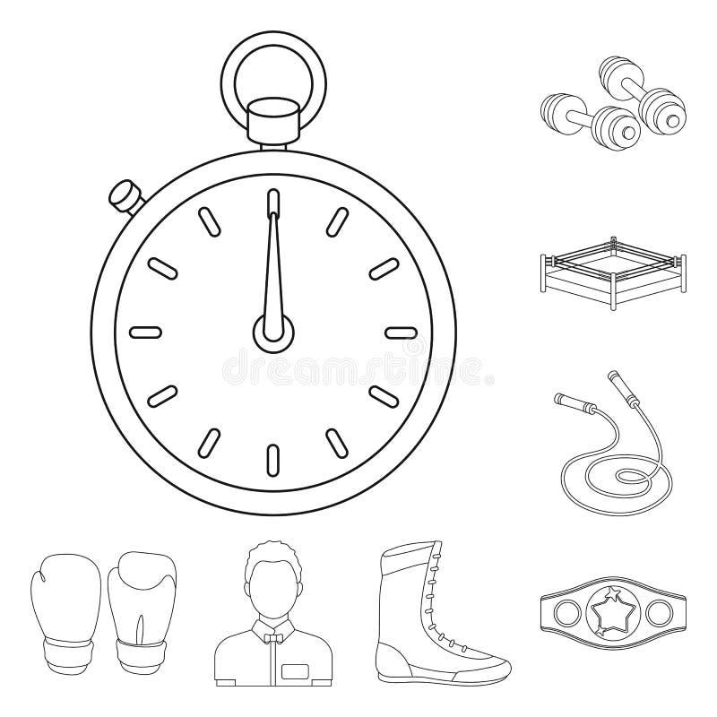 Los deportes extremos de encajonamiento resumen iconos en la colección del sistema para el diseño Boxeador y web de la acción del libre illustration