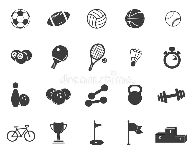 Los deportes fijaron iconos libre illustration