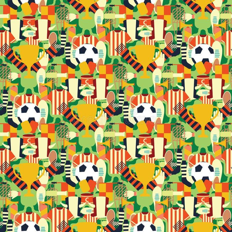 Los deportes modelan con símbolos del fútbol/del fútbol Fondo colorido libre illustration