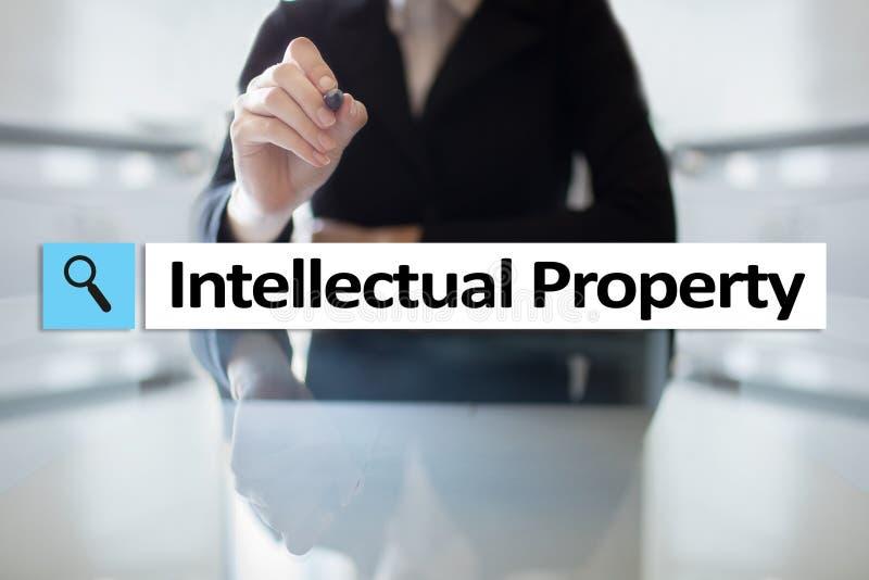 Los derechos de propiedad intelectual patente Concepto del negocio, de Internet y de la tecnología foto de archivo
