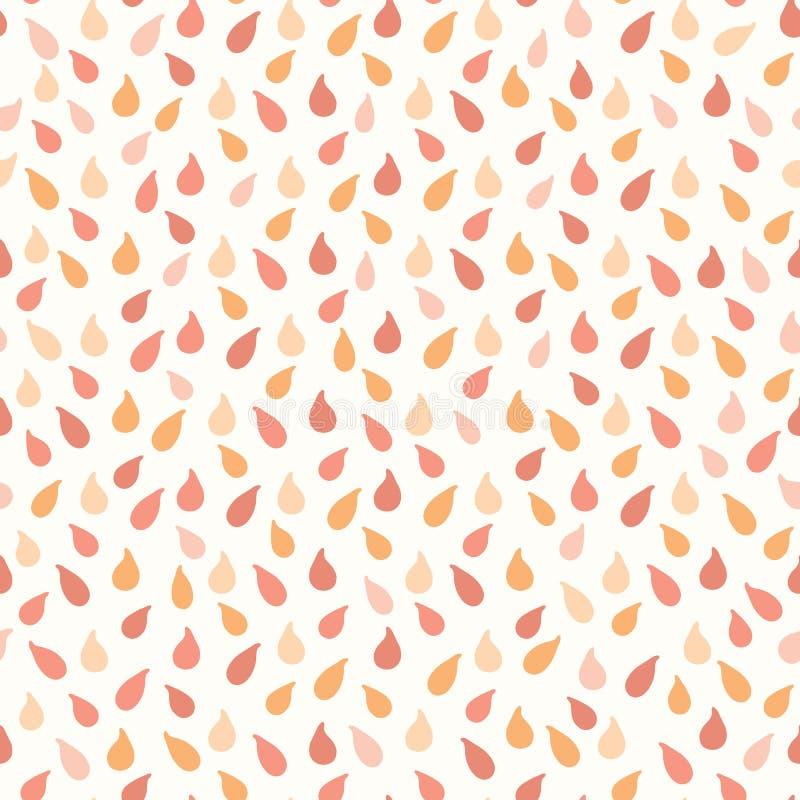 Los descensos jugosos de los agrios anaranjados salpican stock de ilustración