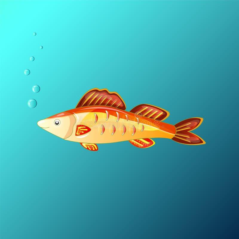 Los deseos de hadas hermosos de las concesiones del pez de colores libre illustration
