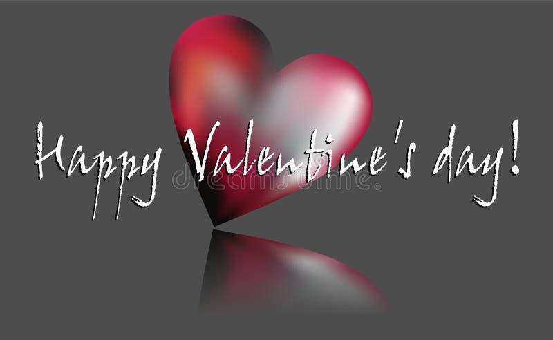 Los deseos y la elegancia de la tarjeta del día de San Valentín fotos de archivo libres de regalías