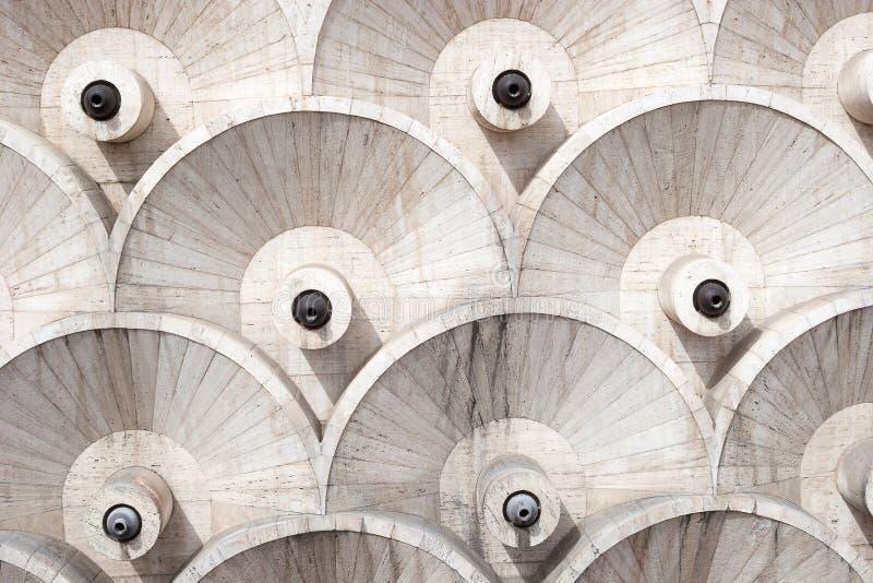 Los detalles abstractos del diseño de la arquitectura de la cascada, Ereván, Armenia imágenes de archivo libres de regalías