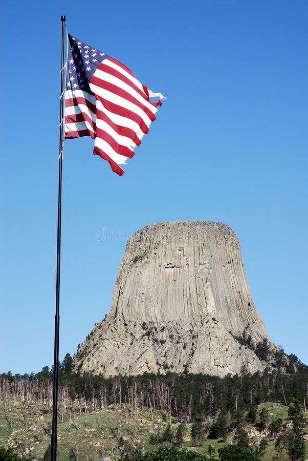 Los diablos se elevan en Wyoming, los E.E.U.U. foto de archivo libre de regalías