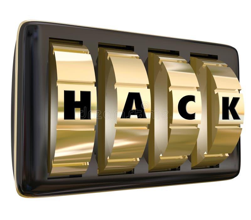 Los diales seguros de la palabra del corte violan la privacidad Informa clasificado seguridad libre illustration