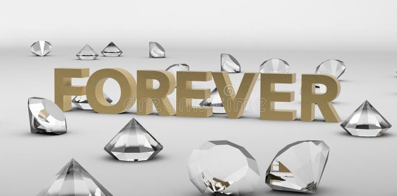 Los diamantes son para siempre título de oro libre illustration