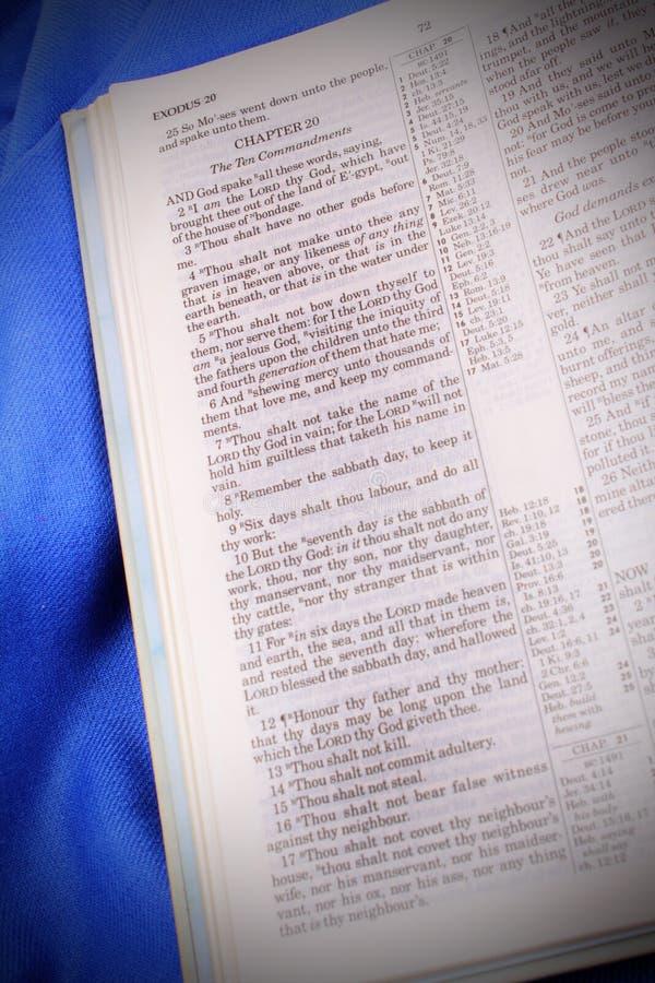 Los diez mandamientos KJV foto de archivo