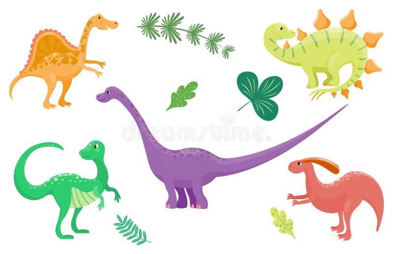 Los dinosaurios de la historieta vector jurásico despredador aislada ejemplo de Dino del monstruo del reptil prehistórico animal  libre illustration