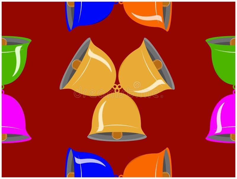 Los diversos colores de cascabeles ilustración del vector