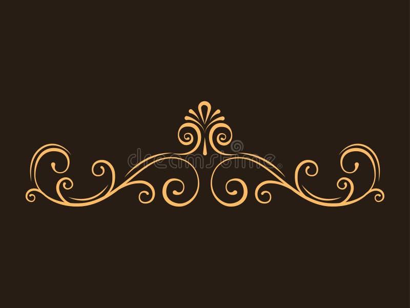 Los divisores decorativos de la página, remolinos, se encrespan Frontera afiligranada caligráfica de la página Estilo de la vendi stock de ilustración