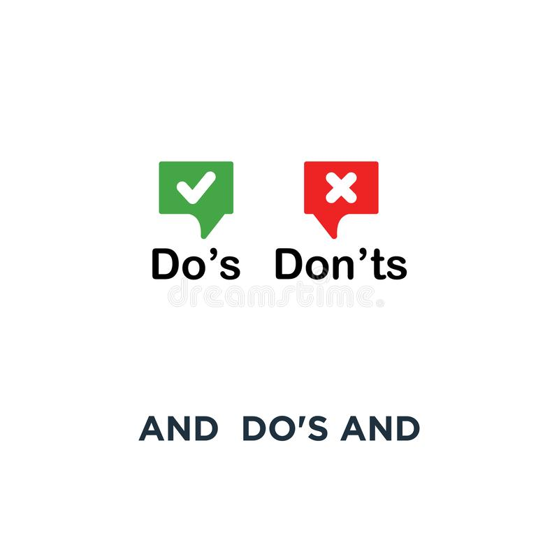 los do rojos y verdes y ponen 'ts burbujean icono, concepto de diseño gráfico moderno del logotipo de la información de la tenden stock de ilustración