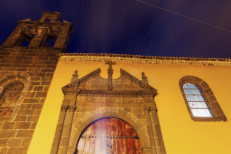 Los Dolores Church em San Cristobal de La Laguna foto de stock