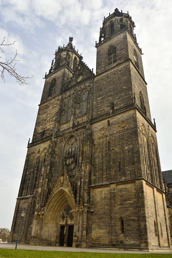Los Dom en Magdeburgo imagenes de archivo