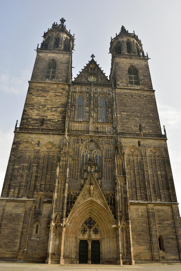 Los Dom en Magdeburgo imagen de archivo libre de regalías