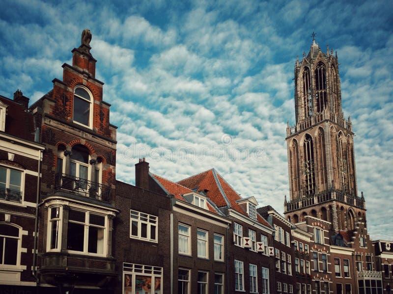 Los Dom se elevan en Utrecht, los Países Bajos imagen de archivo