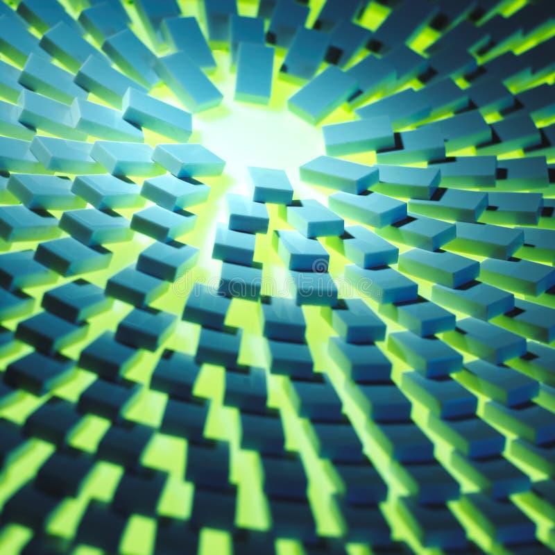 Los dominós irradian el agregado ilustración del vector