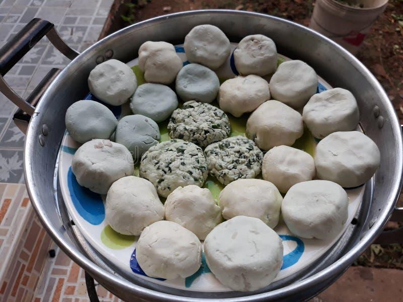 Los dulces del pueblo chino de Chaozhou la pasta se hacen de la harina de arroz mezclada con la harina de la tapioca foto de archivo libre de regalías