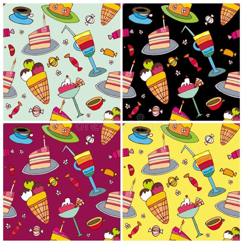 Los dulces modelan el conjunto stock de ilustración