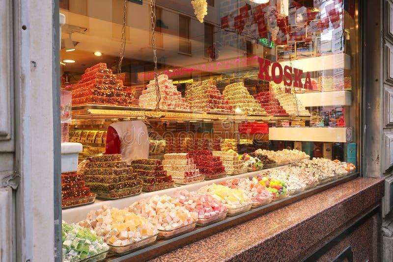 Los dulces turcos de Koska hacen compras fotos de archivo libres de regalías