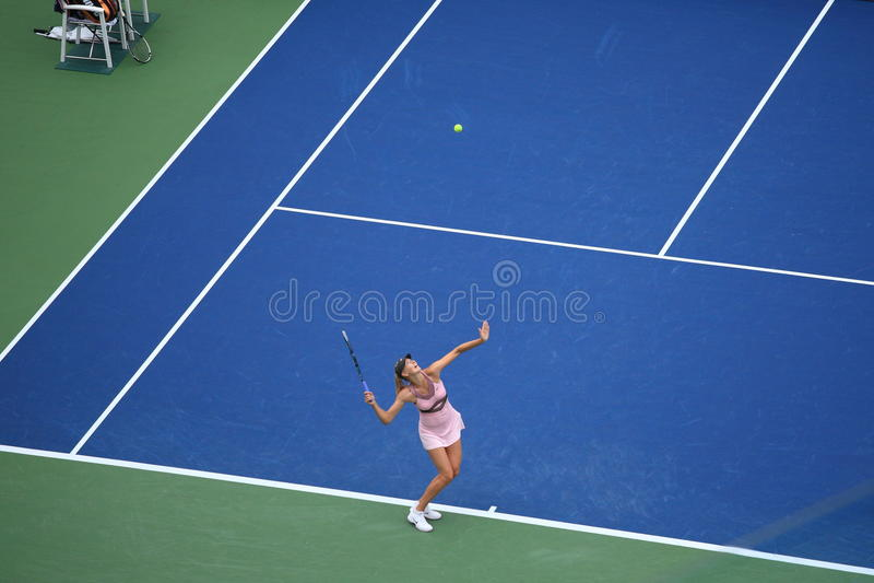 Los E.E.U.U. Abra el tenis - Maria Sharapova fotografía de archivo