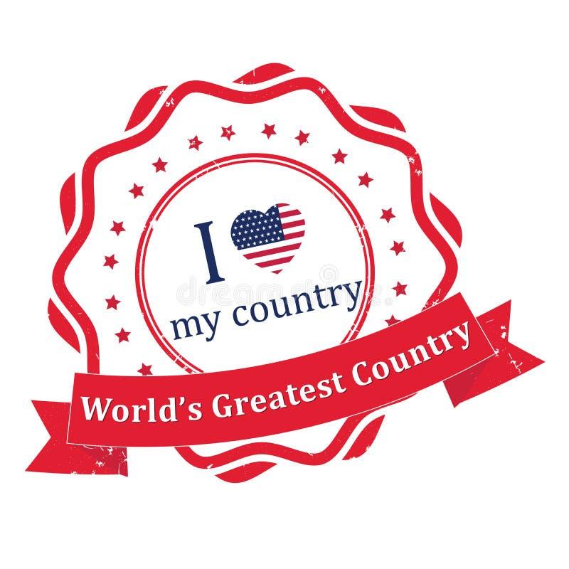 Los E.E.U.U. América - el país más grande del ` s del mundo libre illustration