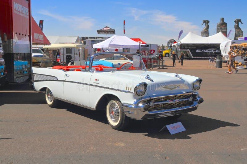 LOS E.E.U.U.: Chevrolet automotriz clásico 1957 Bel Air Convertible fotografía de archivo libre de regalías