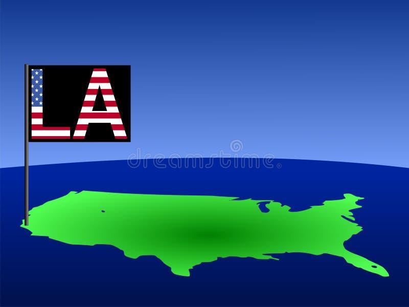 Los E.E.U.U. con el indicador de Los Ángeles libre illustration