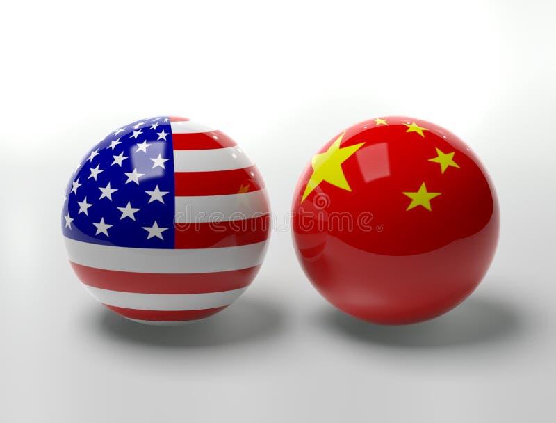 Los E.E.U.U. contra China libre illustration