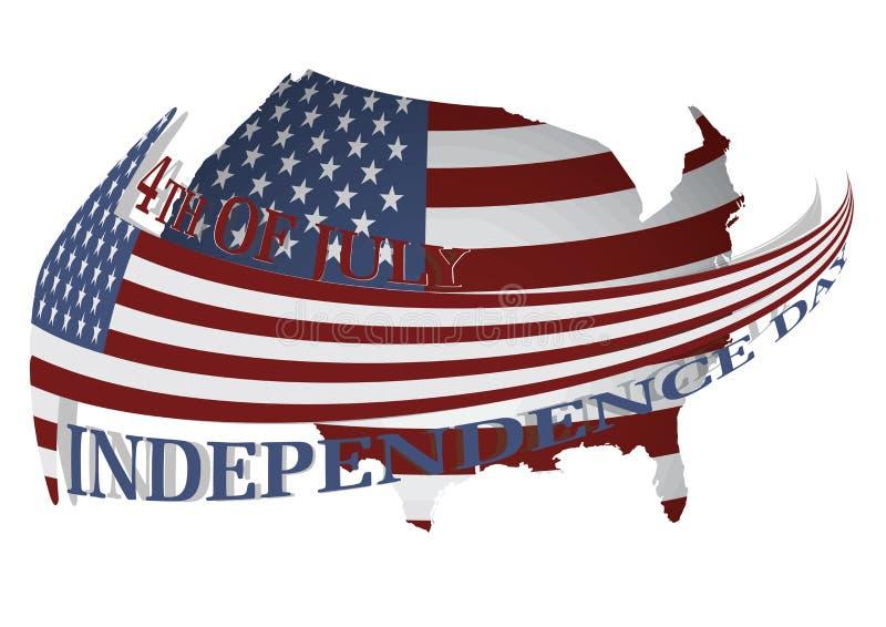 Los E.E.U.U. Día de la Independencia día de fiesta patriótico del 4 de julio   imágenes de archivo libres de regalías