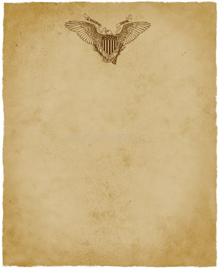 Los E.E.U.U. Eagle Letterhead Stationery stock de ilustración