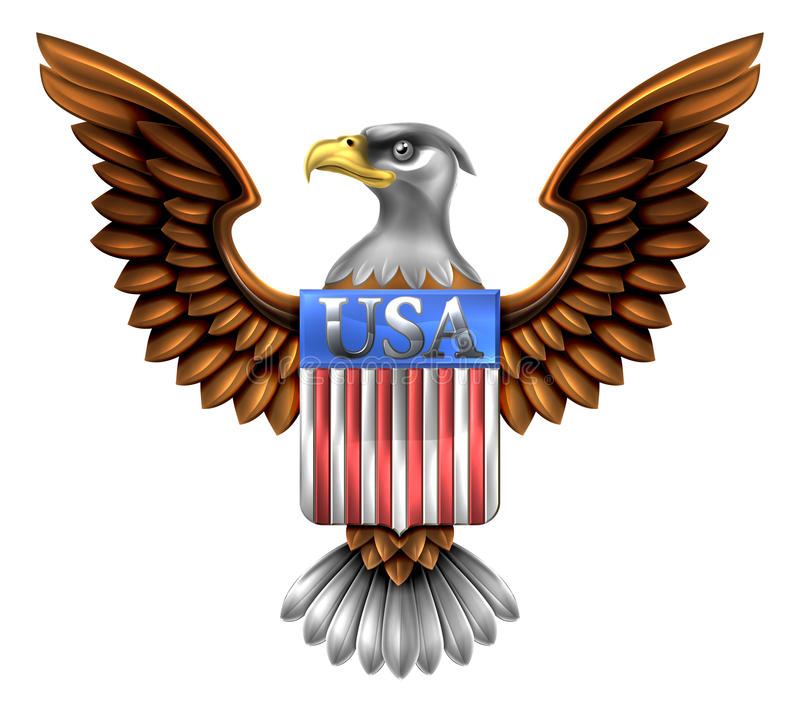 Los E.E.U.U. Eagle Shield Design libre illustration