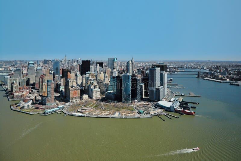 29 03 2007, los E.E.U.U., Nueva York: Vistas de Manhattan del helicopte fotos de archivo libres de regalías