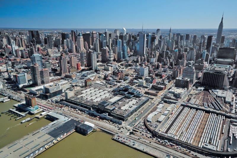 29 03 2007, los E.E.U.U., Nueva York: Vistas de Manhattan del helicopte fotografía de archivo