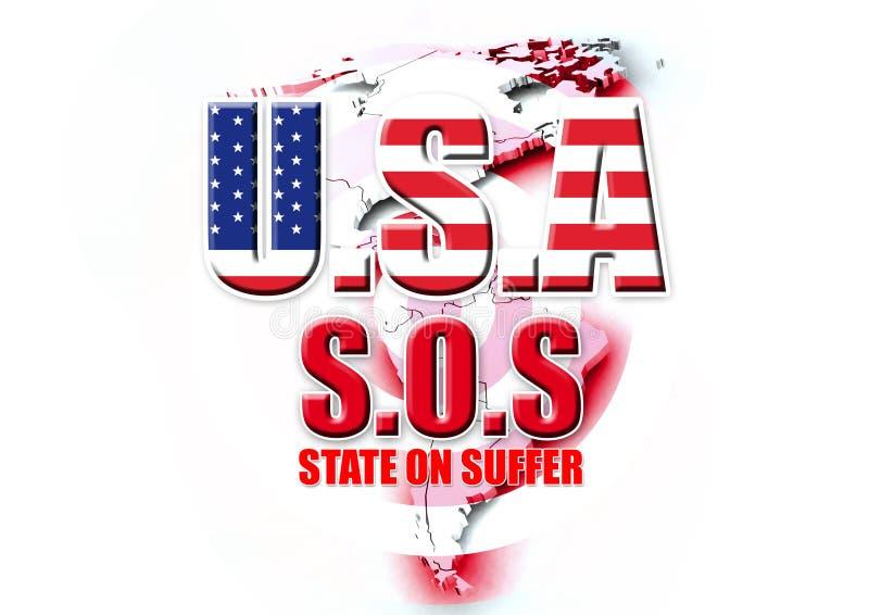 Download LOS E.E.U.U. SOS stock de ilustración. Ilustración de economía - 7285103
