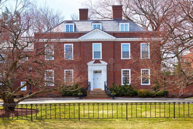 06 04 2011, los E.E.U.U., Universidad de Harvard, rector de la casa del panorama fotografía de archivo