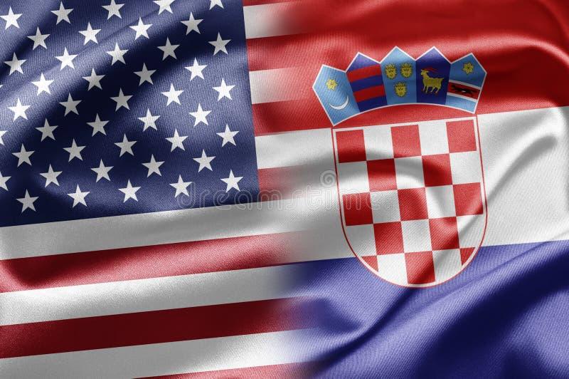 Los E.E.U.U. Y Croacia Imágenes de archivo libres de regalías