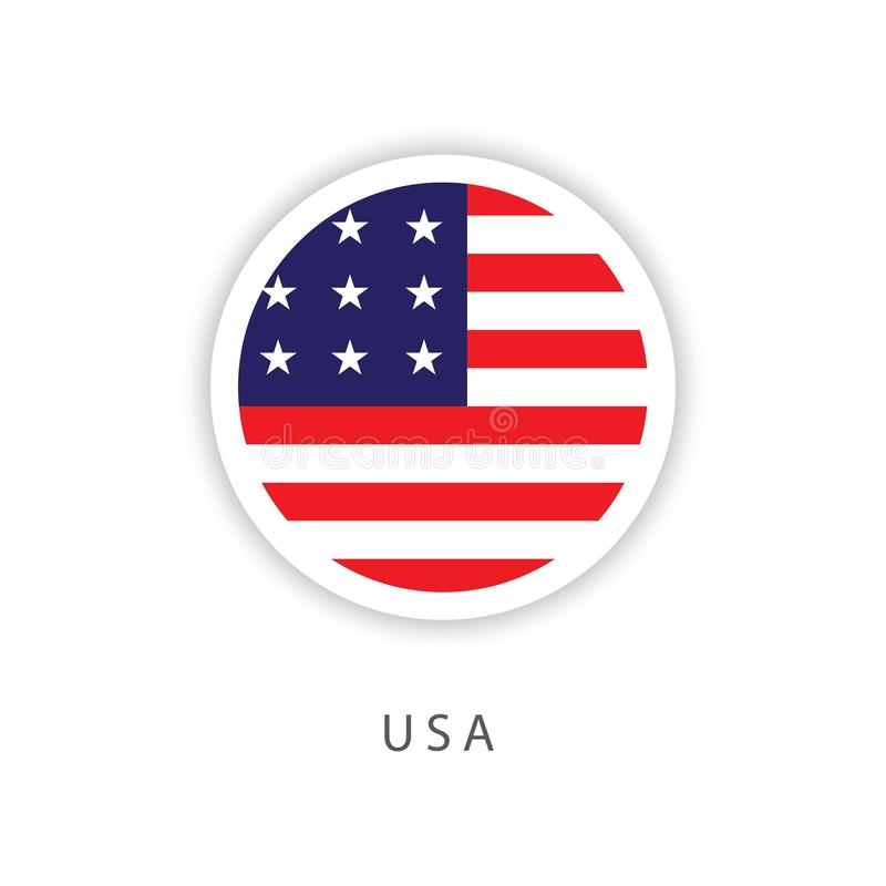 Los E.E.U.U. abotonan el diseño Illustrator de la plantilla del vector de la bandera libre illustration