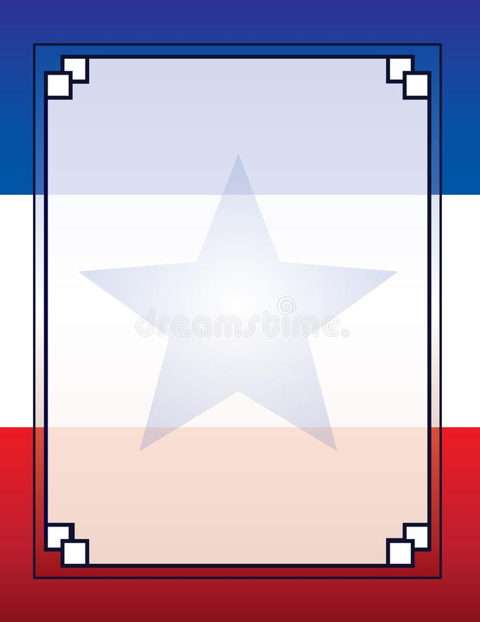 Los E.E.U.U. Cuba Puerto Rico Flag Template Poster Background stock de ilustración