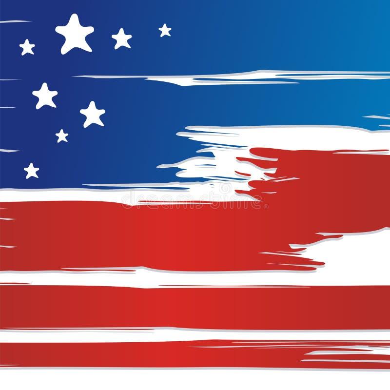 LOS E.E.U.U. - Diseño del fondo del vector de la bandera americana nuevo y moderno, stock de ilustración