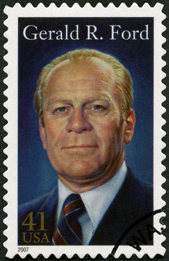 Los E.E.U.U. - 2007: muestra a Gerald Rudolph Ford 1913-2006, 38.o Presidente de los Estados Unidos imagenes de archivo