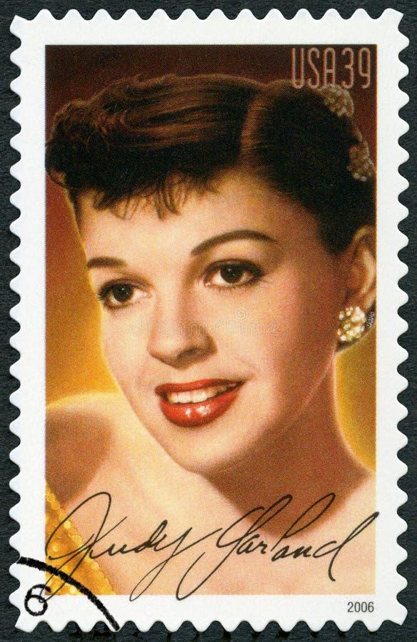 Los E.E.U.U. - 2006: muestra a retrato Judy Garland 1922-1969, Frances Ethel Gumm, leyendas de la serie de Hollywood foto de archivo libre de regalías