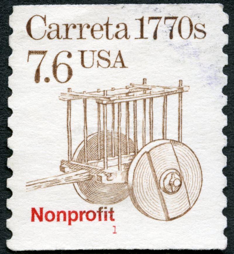 Los E.E.U.U. - 1987: muestra los 1770s de Carreta, serie del transporte Colls imágenes de archivo libres de regalías