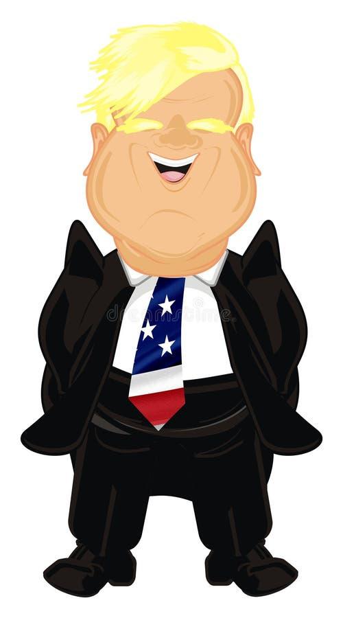 Los E.E.U.U. presiden en traje negro libre illustration