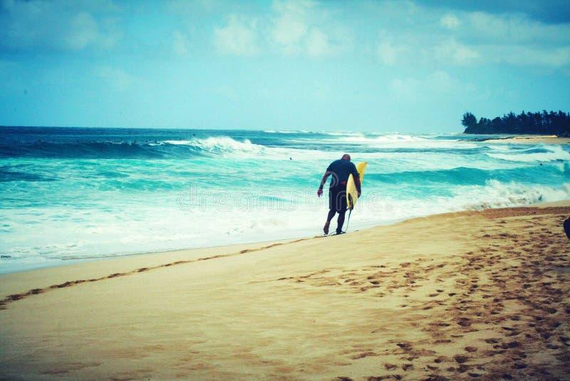 Los E.E.U.U. que practican surf foto de archivo libre de regalías
